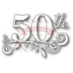Fustella metallica Memory Box Fiftieth Celebration