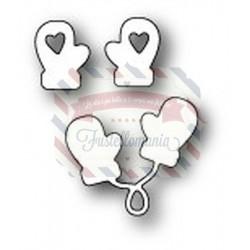 Fustella metallica PoppyStamps Love Mittens craft