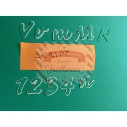 Fustella Sizzix Alfabeto Sizzlits Script