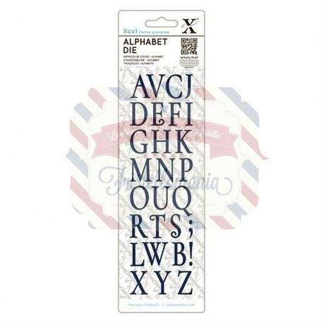 Fustella metallica Xcut Alphabet Vintage