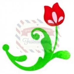 Fustella Sizzix Bigz Flower with Leaves & Stem 3