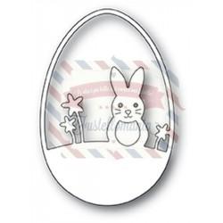 Fustella metallica PoppyStamps Easter Bunny Egg