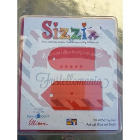 Fustella Sizzix Bigz 38-0236 Tag Set