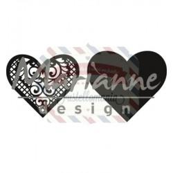Fustella metallica Marianne Design Craftables Lace heart