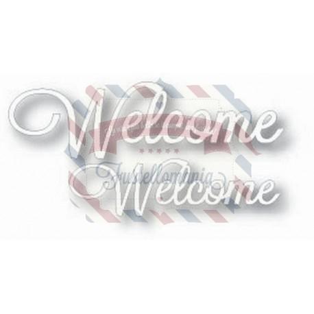 Fustella metallica Tutti Designs Word Set Welcome