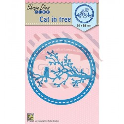 Fustella metallica Nellie's Choice Cat in tree
