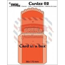 Fustella timbro Crealies Card in a box 2
