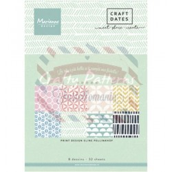 Carta da scrapbooking Marianne Design pretty papers bloc Crafty Patterns