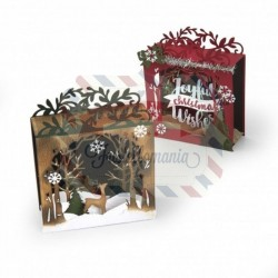 Fustella Sizzix Thinlits Holiday Shadow Box by Katelyn Lizardi