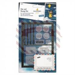 Fustella metallica e timbri Gorjuss Postcard