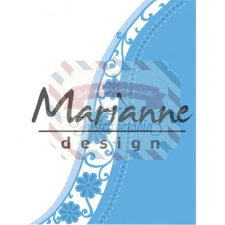 Fustella metallica Marianne Design Creatables Anja's flower wave