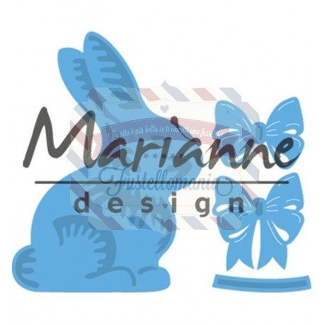 Fustella metallica Marianne Design Creatables Easter bunny with bow