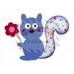 Fustella Sizzix Bigz Squirrel & Flower