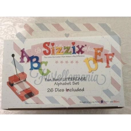 Fustella Sizzix Fun Serif Uppercase maiuscolo