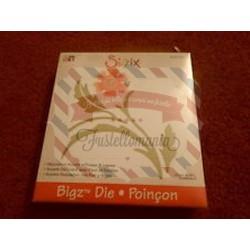 Fustella Sizzix Bigz Decorazione con fiore e foglie