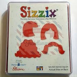 Fustella Sizzix Originals Capelli bimba 1