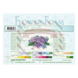 Fommy Leane Creatief per fiori 0,8 mm in fogli A4 10 pezzi colore Blu chiaro
