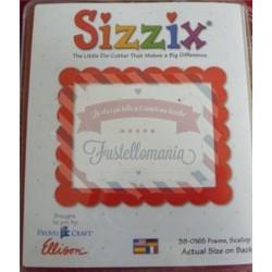 Fustella Sizzix Originals Cornice Scallop smerli