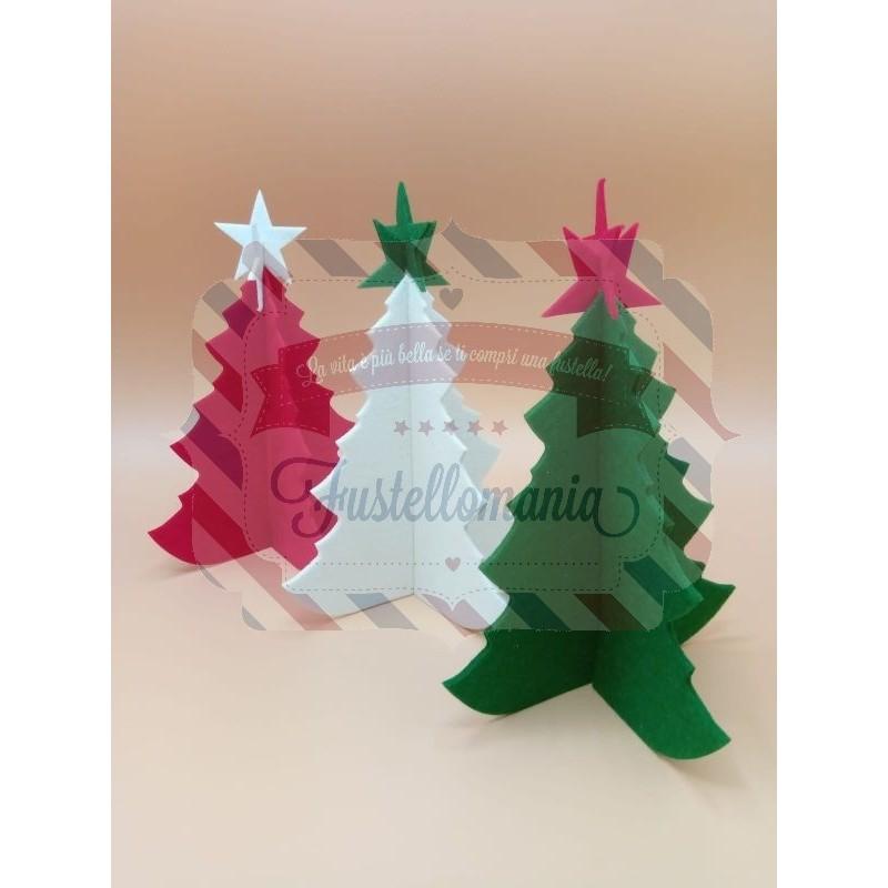 Stella Di Natale Tridimensionale.Fustella A4 Albero E Stella 3d