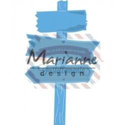 Fustella metallica Marianne Design Creatables Wooden signpost