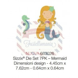 Fustella Sizzix Thinlits Mermaid