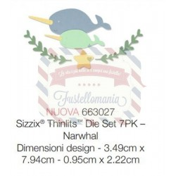 Fustella Sizzix Thinlits Narwhal