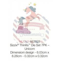 Fustella Sizzix Thinlits Unicorn