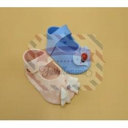 Fustella XL Scarpetta maschio femmina porta confetti con fiocco e cuore
