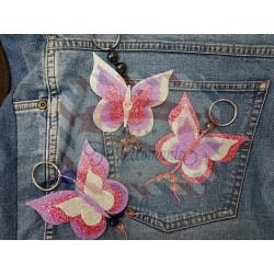 Fustella L Tre farfalle bordi lisci