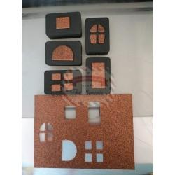 Set 5 fustelline porte e finestre per decorazioni progetti