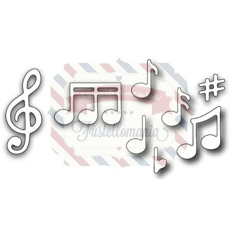 Fustella metallica Note musicali
