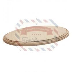 Base di legno ovale 240x140