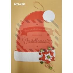 Fustella A4 Cappello di Babbo Natale con stella di Natale kit 2 fustelle