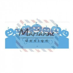 Fustella metallica Marianne Design Creatables border with pumpkins