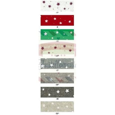 Pannolenci 1mm - 1 foglio 30x40 cm con stelline colore a scelta