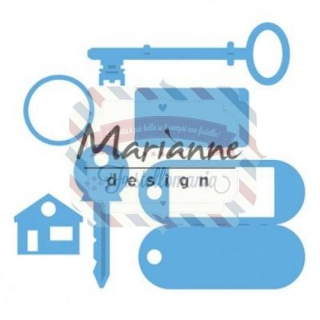 Fustella metallica Marianne Design Creatables Key Ring