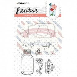 Fustella metallica e timbri Studio Light stamp & die cut A6 Essentials nr.13