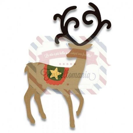 Fustella Sizzix Bigz Graceful reindeer
