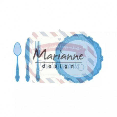 Fustella metallica Marianne Design Creatables Dinner Set