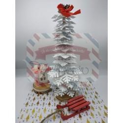 Fustella XL Albero 3D di fiocchi di neve
