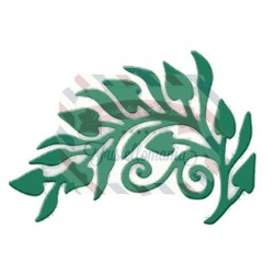 Fustella metallica Arched Leaves