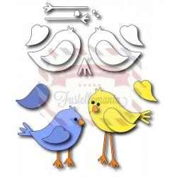 Fustella metallica Uccellini innamorati