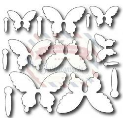 Fustella metallica Farfalle piccole