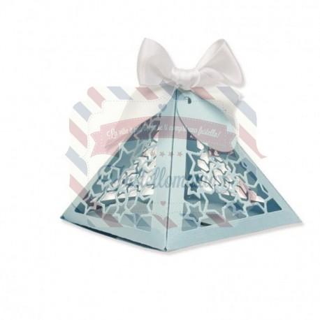 Fustella Sizzix Thinlits set triangle gift box