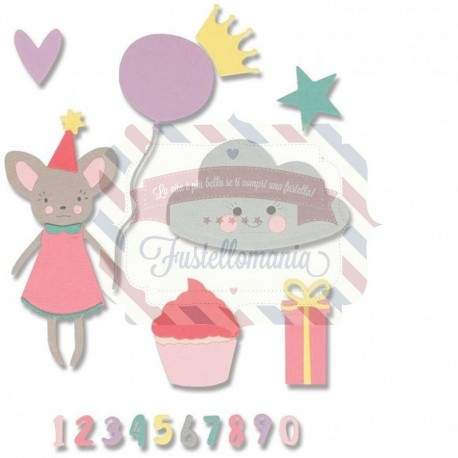 Fustella Sizzix Thinlits set birthday girl by my life handmade