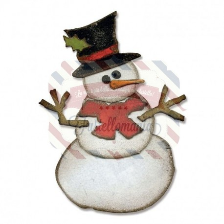Fustella Sizzix Bigz assembly snowman by Tim Holtz