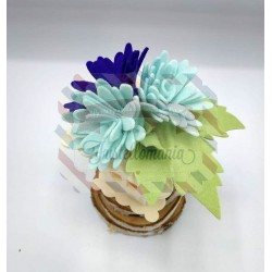 Fustella XL Roselline e fiori a punta arrotondata