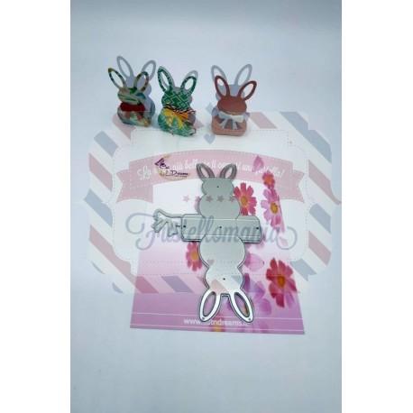 Fustella metallica Scatolina coniglietto e fiocco