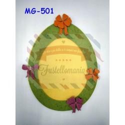 Fustella XL Uova con fiocco e fiore