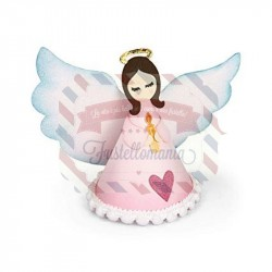Fustella Sizzix Thinlits Set Angel 3-D by Jen Long